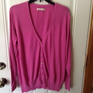 Old Navy pink cardigan sweater